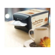 SCA Tissue 32XPC Black Counter Napkin Dispenser