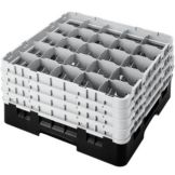 "Cambro 25S900110 Black 9-3/8"" H Full 4 Extender Glass Rack - 2 / CS"