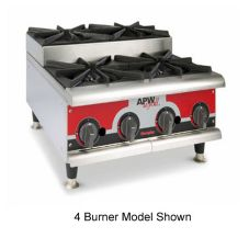 APW Stepped Series Champion Gas 6 Burner Hotplate, Export GHPS-6H-CE