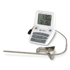 CDN® White Digital Combo Thermometer, Timer, and Clock