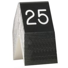 "Cal-Mil 269A-2 Black / White 3"" x 3"" No. 1 to 25 Tents"