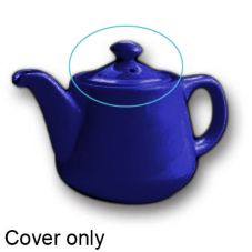 Hall® China 2322-C-BL Cobalt Blue 12 Oz Tea Pot w/ Knob - 12 / CS