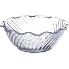 Dinex DXSWC1207 SAN Plastic Swirled 13 Oz. Tulip Bowl - 48 / CS