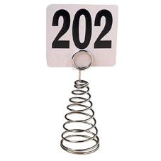 "American Metalcraft MHSC6 Chrome Spiral Wire 6""H Number Holder"
