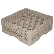Traex® TR12HA Beige 30 Compartment Glass Rack with 2 Extenders