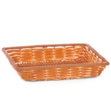 "Willow Rectangular 14"" Poly-Line Tray w/ Reinforced Rim"