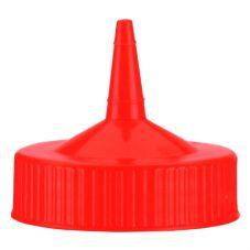 Traex 4913-02 Red Single Spout Wide Mouth Replacement Cap - Dozen