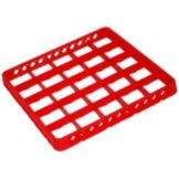 Traex® TRB-02 Red 25 Compartment Glass Rack Extender