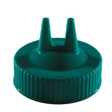 Traex 2300-191 Vista Green Twin Tip Cap for Wide Mouth Squeeze Bottle