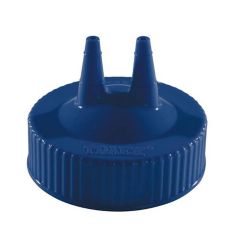 Vollrath 2300-44 Traex Blue Twin Tip Cap f/ Wide Mouth Squeeze Bottle