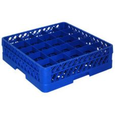 Vollrath TR6B-44 Traex Royal Blue 25 Compart. Glass Rack w/ 1 Extender