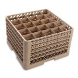 Vollrath TR6BBBBB Traex Beige 25 Compartment Glass Rack w/ 5 Extenders