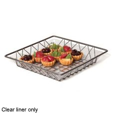 "Willow Specialties L606 11"" x 11"" Clear Tray Liner"