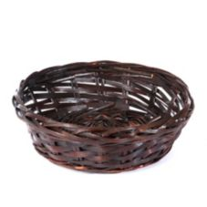 "Willow Specialties 85121 12-1/2"" Round Brown Willow Basket"
