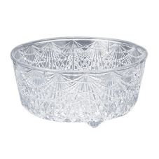 Maryland Plastic MPI0511 Crystal Cut Plastic 6 Qt. Bowl - 12 / CS