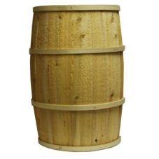 "Bradbury Barrel 20"" x 30"" Rustic Wooden Barrel"