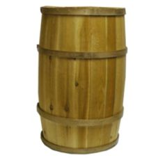 "Bradbury Barrel Wooden Barrel, 15"" X 24"""
