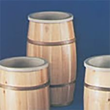 Bradbury Barrel 1630#1/TL16 Rustic Finish Wood Barrel with Liner