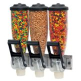 Server Products 86660 Triple 2-Liter Hopper Dry Food Dispenser