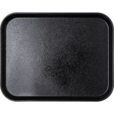 "Carlisle 1814GR004 Griptite 18"" x 14"" Rectangular Black Tray - 12 / CS"