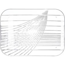 "Festival Trays Rectangular Handled Tray, Clear, 22"" x 16"""