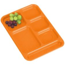 Cambro Orange Budget School Compartment Tray