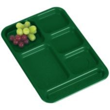 Cambro BCT1014119 Sherwood Green Budget 6-Compartment Tray - Dozen