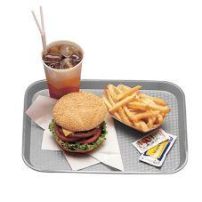 """Cambro 1418FF107 Pearl Gray 14"""" x 18"""" Fast Food Tray - Dozen"""