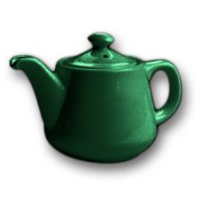 Hall China 2322-FG Forest Green 12 Oz. Tea Pot with Strainer - 12 / CS