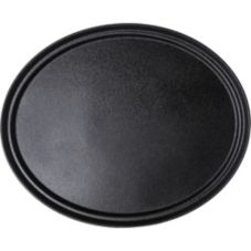 Carlisle® 2700GR004 Griptite™ Black Oval Tray