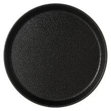"Carlisle® 1100GR004 Griptite™ 11"" Round Black Tray"