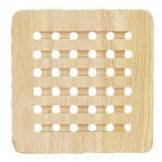 "Fox Run 4189 Natural Finish Wood 8"" Square Trivet"