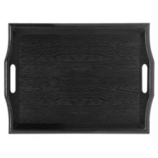G.E.T. RST-1815-BK Black SAN Plastic 18 In Room Service Tray - 6 / CS