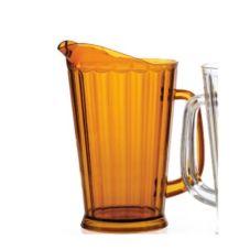 G.E.T.® P-1064-1-A Amber SAN Plastic 60 Oz Beer Pitcher