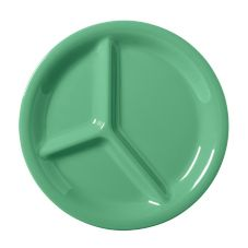 G.E.T. Diamond Mardi Gras™ Rainforest Green 3-Compartment Plate