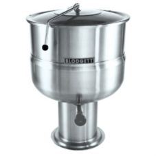 Blodgett 40DS-KPS 40 Gal Direct Steam Pedestal Kettle w/ Hinged Cover