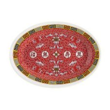 """G.E.T. M-4020-L Longevity Dynasty Line 14"""" Melamine Oval Platter"""