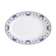 "G.E.T. M-4020-B Dynasty Water Lily 14 x 10"" Oval Melamine Platter"