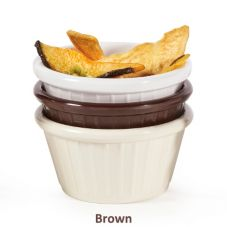 G.E.T. F-635-BR Chocolate Brown Melamine 3 Oz Fluted Ramekin - 48 / CS