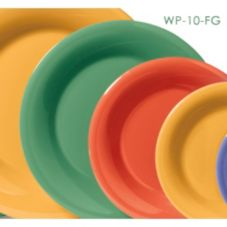 "G.E.T. WP-10-FG Mardi Gras Rainforest Green 10-1/2"" Plate - Dozen"