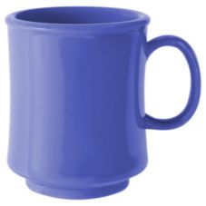 G.E.T. TM-1308-PB Diamond Mardi Gras Peacock Blue 8 Oz Mug - 24 / CS
