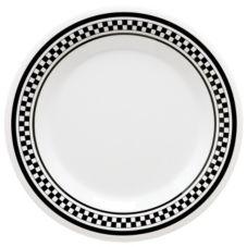 """G.E.T. WP-9-X Diamond Chexers™ 9"""" Wide Rim Plate - Dozen"""