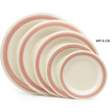 "G.E.T. Diamond Oxford™ 9"" Wide Rim Melamine Plate"