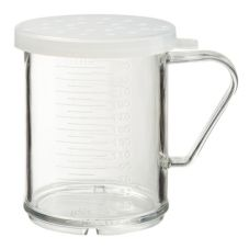 G.E.T.® SC-180YUM Necessities White 8 Oz Small Dredge w/ Lid