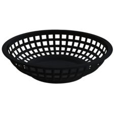 "G.E.T. RB-820-BK Black Plastic 8"" Rnd Traditional Basket - Dozen"