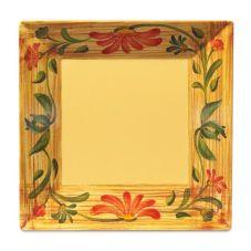"""G.E.T.® ML-103-VN Venetian Square 8"""" Melamine Plate - 12 / CS"""