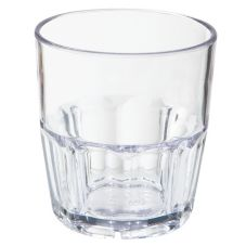 G.E.T. 9909-1-CL Bahama SAN Plastic 9 oz Double Rocks Glass - 72 / CS