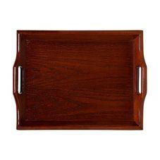 G.E.T. RST-1814-M Mahogany Hardwood 19 In Room Service Tray - 6 / CS