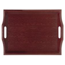 G.E.T.® RST-1815-1-M Mahogany Plastic Room Service Tray - 6 / CS