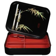 G.E.T.® 171-F Fuji™ 5-Compartment Bento Box w/ Cover